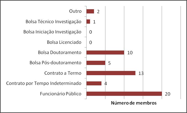 Número de membros por tipo de vínculo